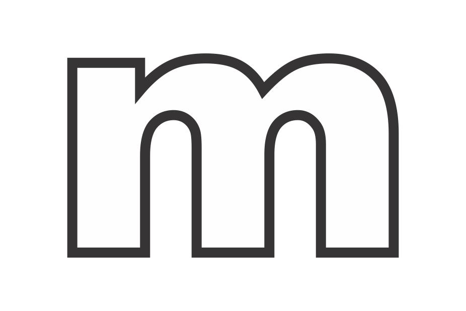 molde de letra m