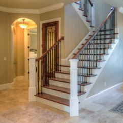 Open Plan Staircase In Living Room White Gloss Furniture Exclusive Home Builder And Remodeling, Orlando, Fl, Winter ...