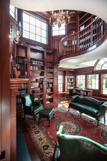 Two-Story Home Library Office