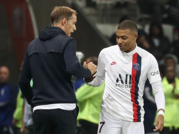 Kylian Mbappe and Thomas Tuchel