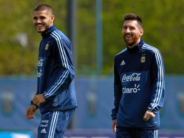 Mauro Icardi and Lionel Messi