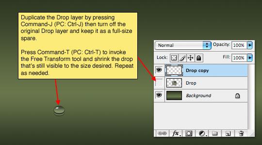 step14 Thiết Kế Giọt Nước Rơi trong Photoshop