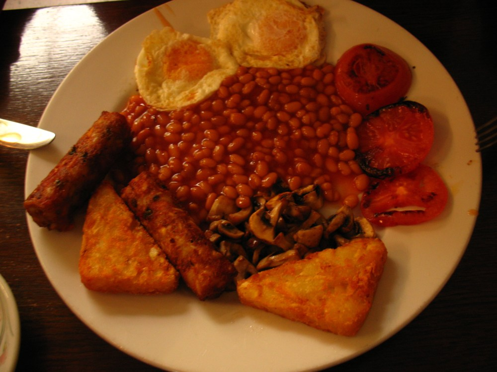 english breakfast w Café Bohemia (4/4)