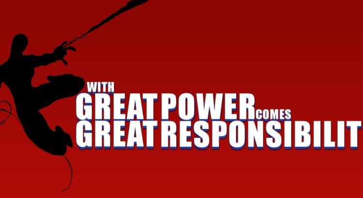 com grandes poderes vem grandes responsabilidades