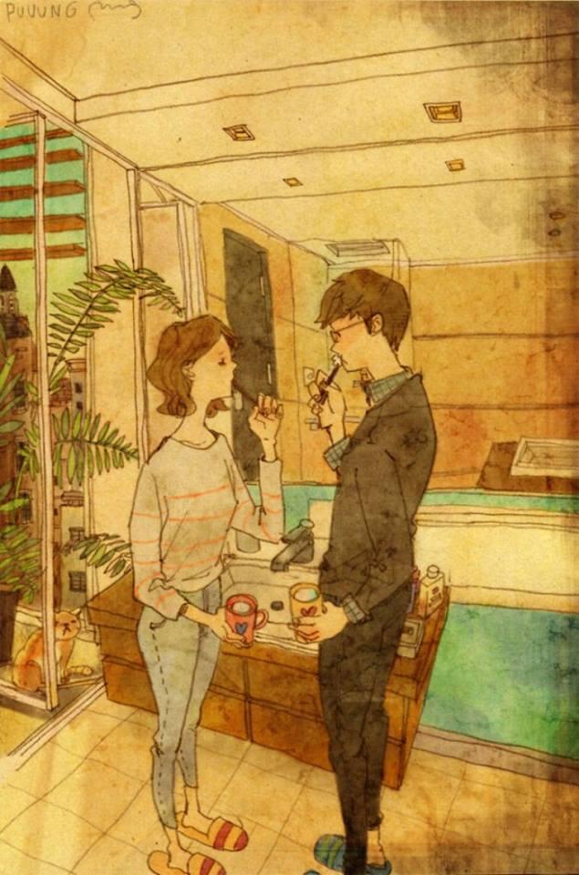 prova de amor casal escova os dentes juntos