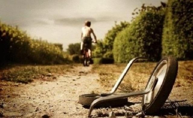 passado, bicicleta sem rodinhas, deixar o passado, viver no presente