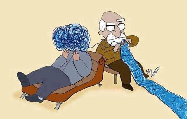terapia, análise, psicoterapia freud desfaz os nós da cabeça do paciente