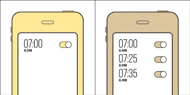 Tipo de pessoa 1: um alarme basta. Tipo de pessoa 2: certeza que tem que levantar?
