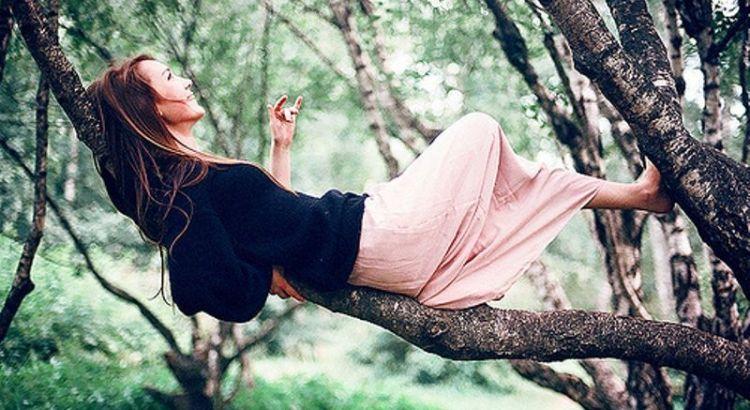 corpo e mente, mulher descansando