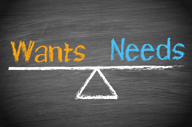 o que temos, queremos, o que desejamos, o que precisamos