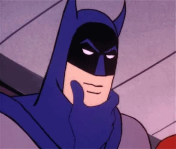 Registro de evento: Quantas vezes Batman toca o rosto e fica pensativo?