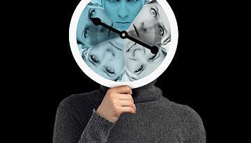 cerebro humano azul