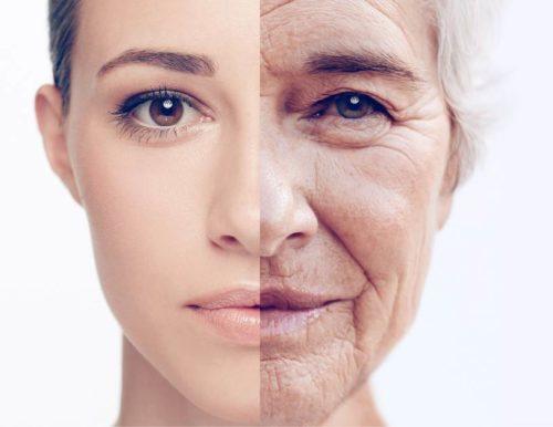 Ageísmo - mulher jovem e mulher velha idosa