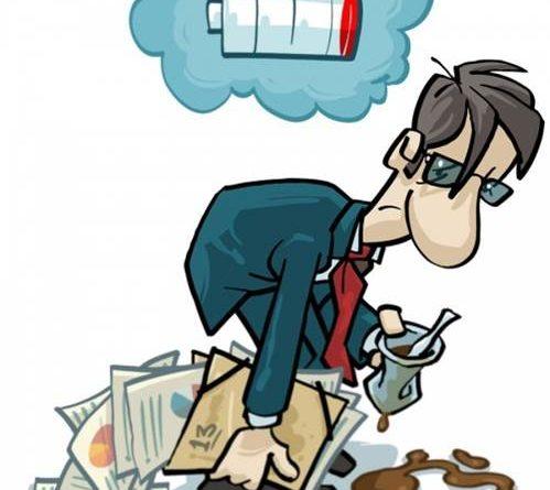 Esgotamento físico e psicológico por trabalho