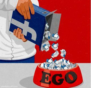 ego no facebook
