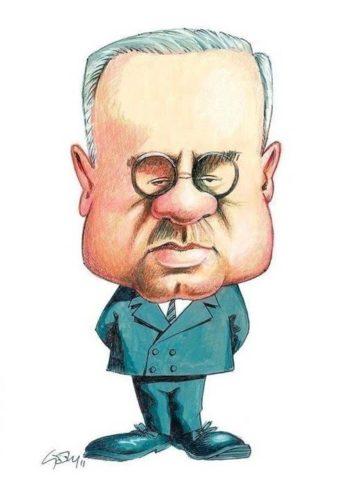 Alfred Adler caricatura