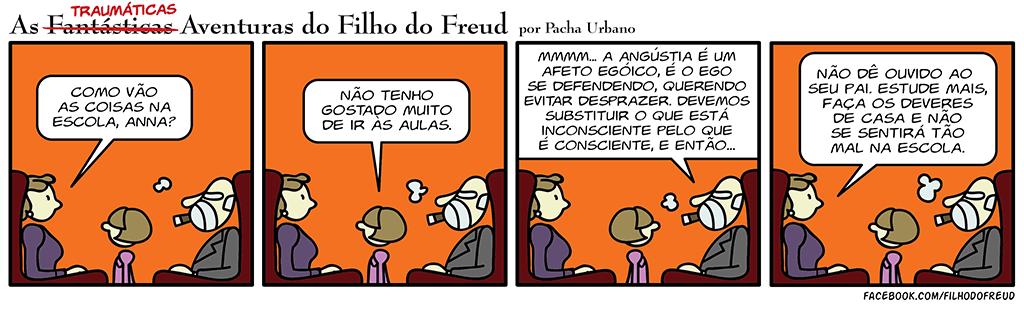 Anna Freud não quer ir à escola / Angústia e Ego segundo Freud