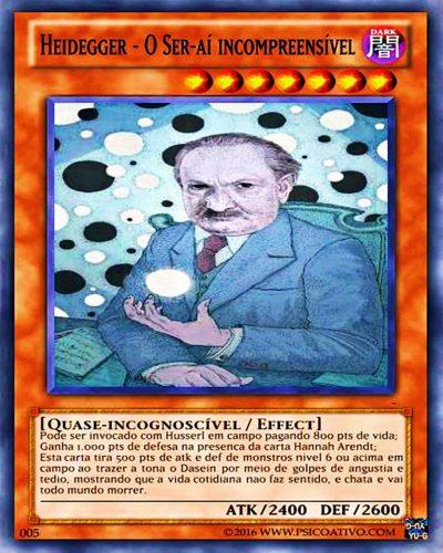 """Heidegger - Carta do """"Yu gi oh dos filosofos"""""""