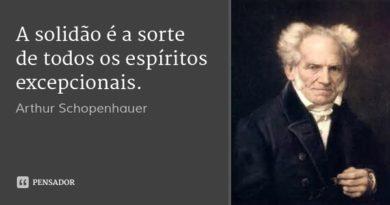 frase de arthur schopenhauer - solidão