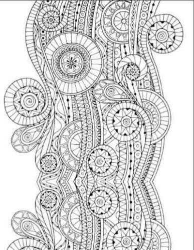 Desenho para colorir antiestresse - vinha sagrada