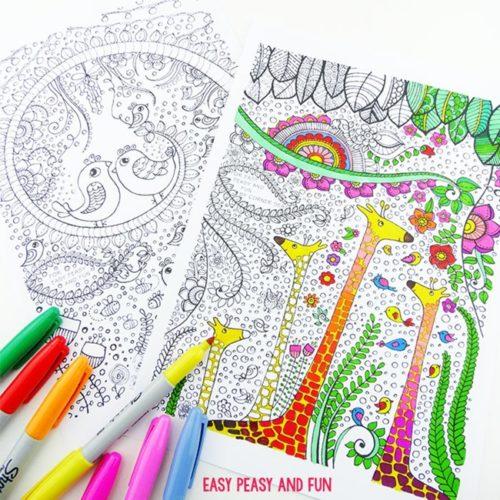 Desenhos terapeuticos para imprimir e colorir
