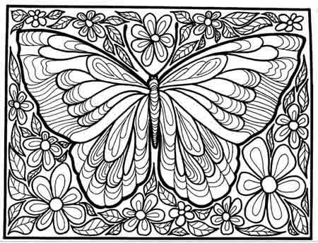 borboleta para imprimir e colorir - desenho