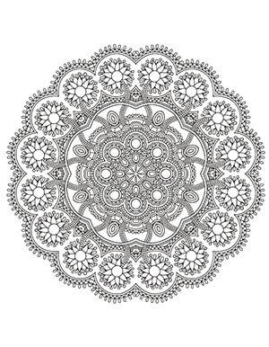 desenhos para colorir antiestresse para imprimir - mandala
