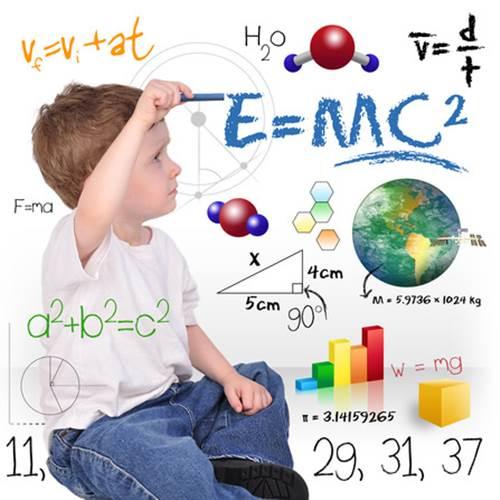 menino estudando ciencias