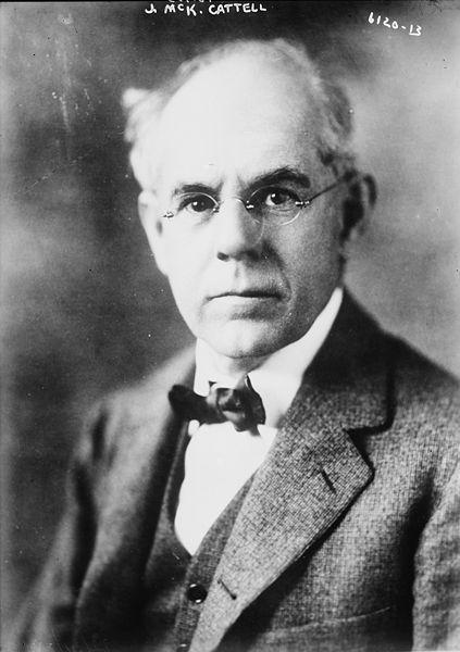 James McKeen Cattell. Imagem cedida pela Biblioteca do Congresso dos EUA.