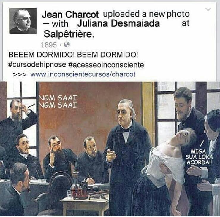 charcot e a hipnose no facebook
