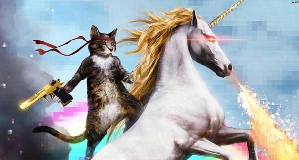 mitos - gato unicornio