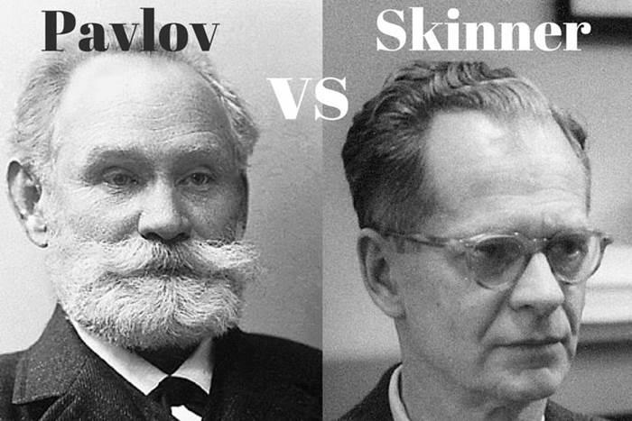 Pavlov: Domínio público / Skinner: Wikimedia Commons