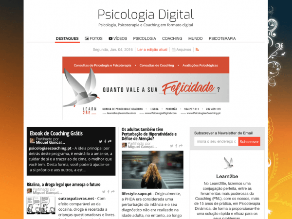 Edição Revista Psicologia Digital - Janeiro 2016