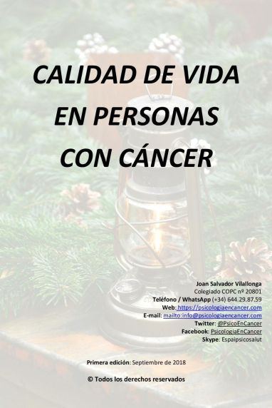 Guía de calidad de vida en personas con cáncer