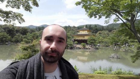 En el Pabellón Dorado de la ciudad de Kyoto, en Japón.