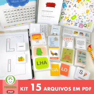 Kit Alfabetização com 15 itens
