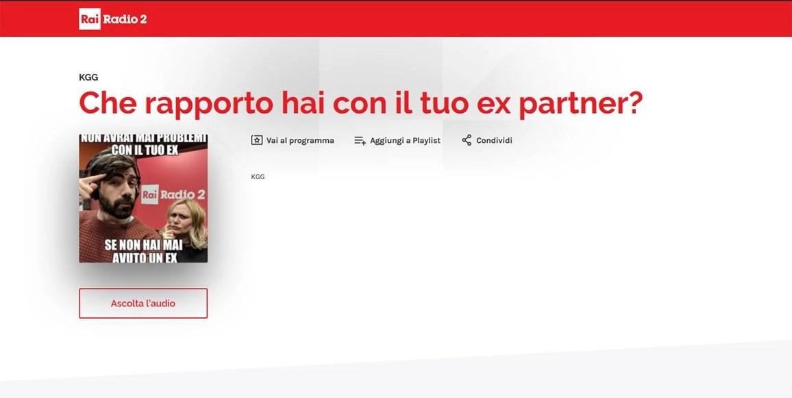 Intervista Rai Radio 2 dott. Legacci