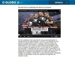 Vídeo da luta de Luiz Cane Banha no Shooto no OGlobo
