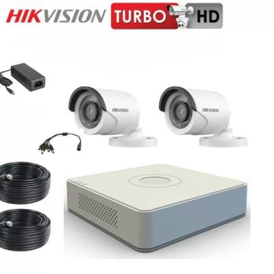 HIKVISION 2 MPIXEL bullet camera CCTV KIT 1208 δύο καμερών