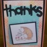 Hedgehog Card Using Walk In My Garden Cricut Cartridge