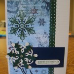 Handmade Christmas Card Using Joys of the Season Cricut Cartridge