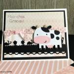 Moo-chas Gracias Cow Cricut Card Using Create A Critter