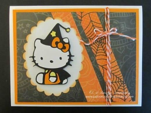 Hello Kitty Halloween Card