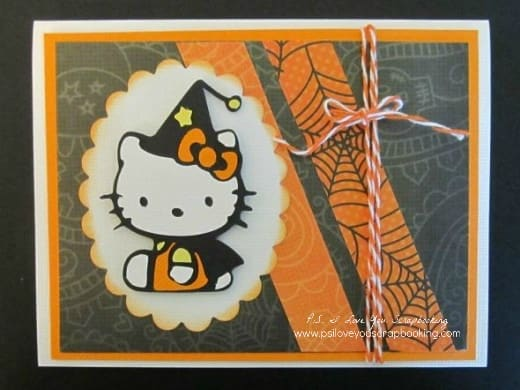 Hello Kitty Halloween Card