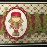 Card with Doodlecharms Cricut Christmas Trees