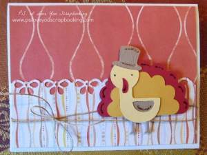 This Turkey Cricut Thanksgiving Card is perfect for sending Thanksgiving greetings. It uses the Create A Critter 2 Cricut Cartridge