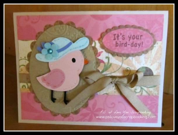 create a critter 2 bird birthday card