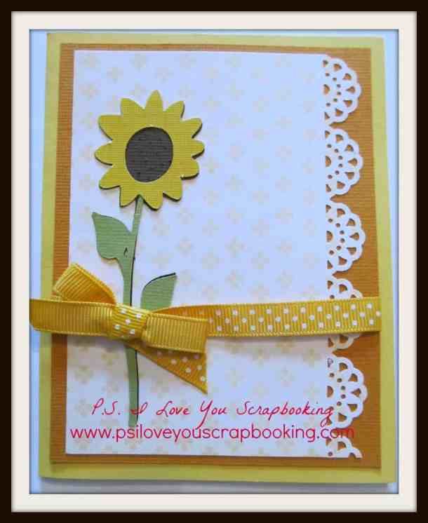 Cricut Sunflower Card Using the Stretch Your Imagination Cricut Cartridge
