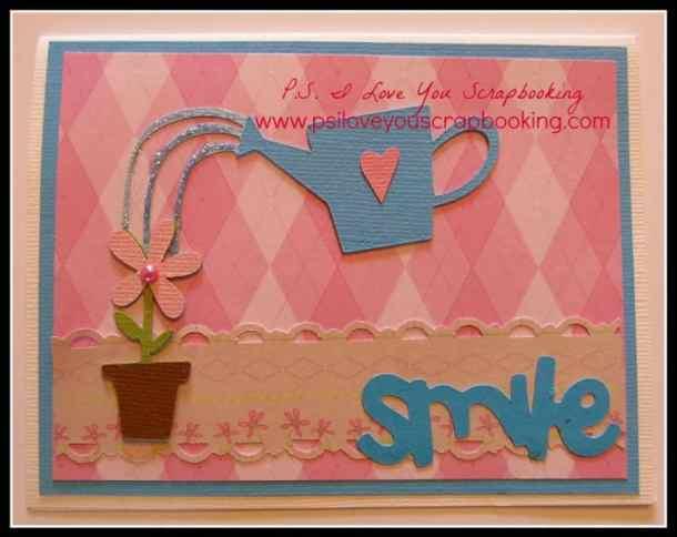 handmade friendship card using country life cricut cartridge