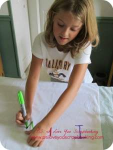 Easy Pillowcase Craft Using Sharpie Markers